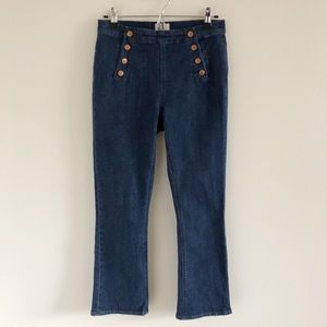J. Crew Billie Demi-Boot Crop Sailor Jeans 27